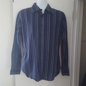 Guess by Marciano Striped Button Front Shirt